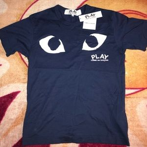 Comme Des Garcons PLAY Navy T-Shirt
